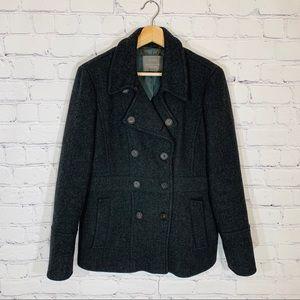 J. CREW Stadium Cloth Nello Gori Peacoat Pea Coat